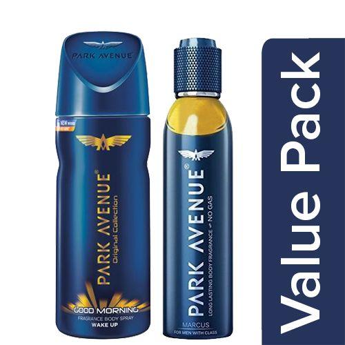 Park avenue Deodorant - Good Morning 130 Ml + Body Fragrance - Marcus 150 Ml, Combo 2 Items