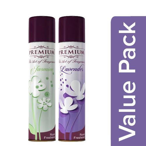 Premium Room Freshener - Jasmine Jive 125 Ml + Room Freshener - Lavender 125 Ml, Combo 2 Items