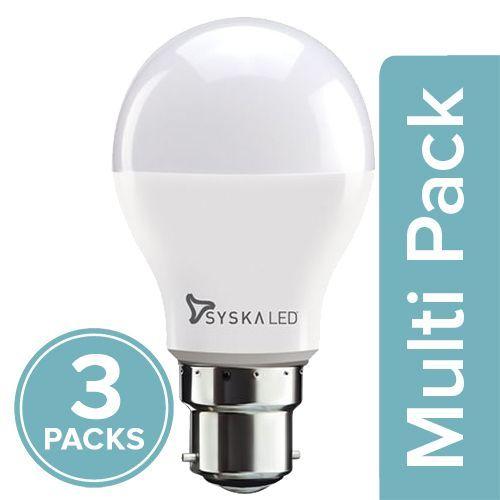 Syska LED Bulb - 3-Watt, Base B22, 3x1 pc Multipack