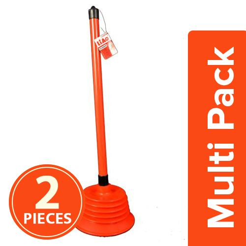Liao Toilet Cleaning - Plunger, Large, 2x1 pc Multipack