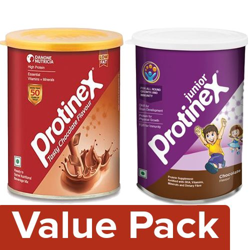 Protinex  Health Drink Chocolate 400G + Nutritional Supplement Junior, Chocolate 400G, Combo 2 Items