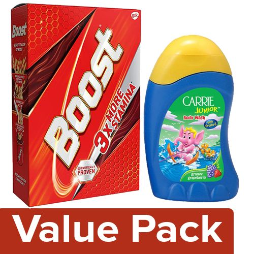 bb Combo Boost Health Energy & Sports 450G+CarrieJunior Body Wash Groovy Grapeberry 100ml, Combo 2 Items