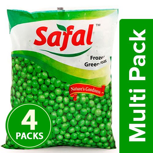Safal Frozen - Green Peas Pouch, 4x200 gm Multipack