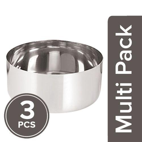 Neelam Sada Vati - Stainless Steel, Katori, 3x300 ml Multipack