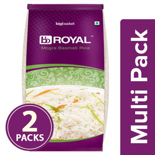bb Royal Rice - Basmati, Mogra, 2x1 kg Multipack