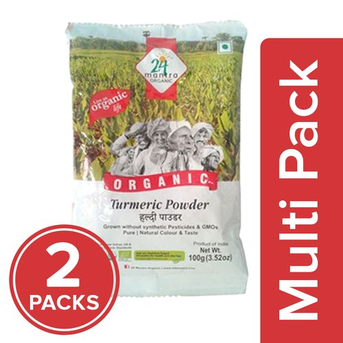 24 Mantra Organic Powder - Turmeric, 2x100 g Multipack