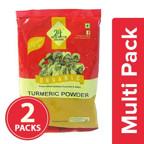 24 Mantra Organic Powder - Turmeric, 2x200 gm Multipack