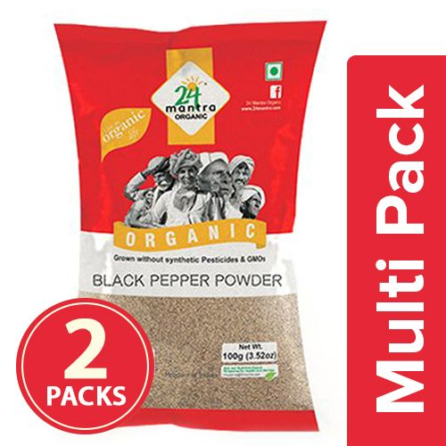 24 Mantra Organic Powder - Black Pepper, 2x100 gm Multipack
