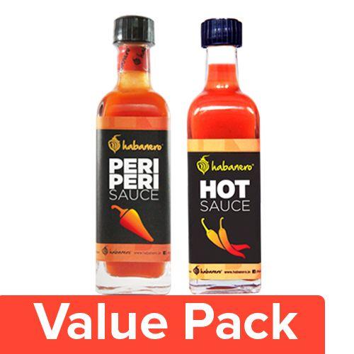Habanero Sauce - Peri Peri 65gm + Hot Sauce 75ml, Combo 2 Items