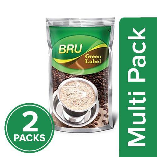 Bru  Filter Coffee - Green Label, 2x200 gm Multipack