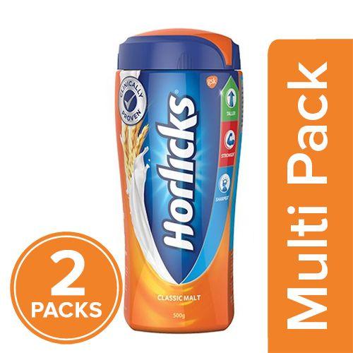 Horlicks Lite Health & Nutrition Drink - Classic Malt, 2x450 gm Multipack