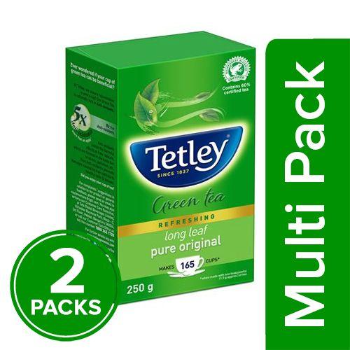 Tetley Green Tea - Long Leaf, 2x250 gm Multipack