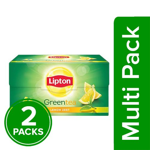 Lipton  Green Tea - Lemon Zest, 2x25 pcs Multipack
