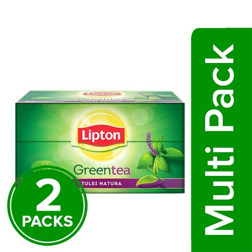 Lipton Green Tea - Tulsi Natura, 2x25 pcs Multipack