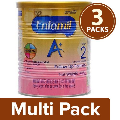 Enfamil A+ Stage 2 - Follow-Up Formula, 3x400 gm Multipack