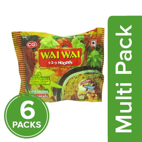Wai Wai 1-2-3 Noodles - Chicken Flavour, 6x70 g Multipack