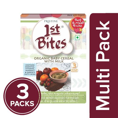 1St Bites Baby Food - Ragi, Strawberry & Apple Powder, Stage-3, 10-24 Months, 300 gm Pack of 3