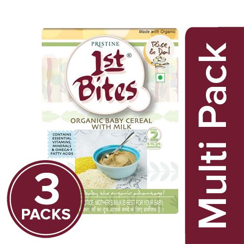 1St Bites Baby Food - Rice & Dal, Stage-2, 8-24 Months, 300 gm Pack of 3