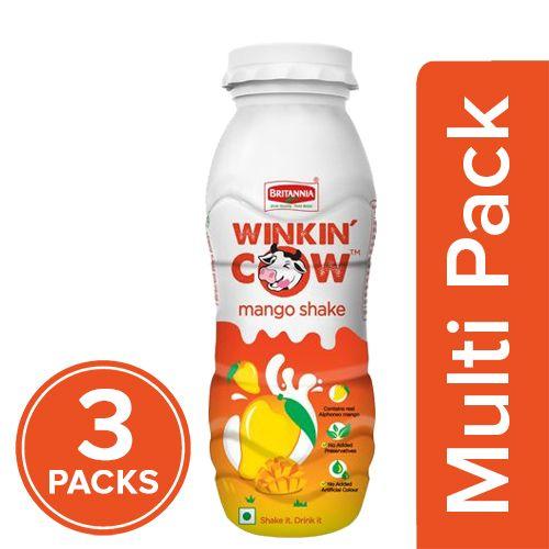 Britannia Winkin Cow Milkshake - Mango, 3x200 ml Multipack