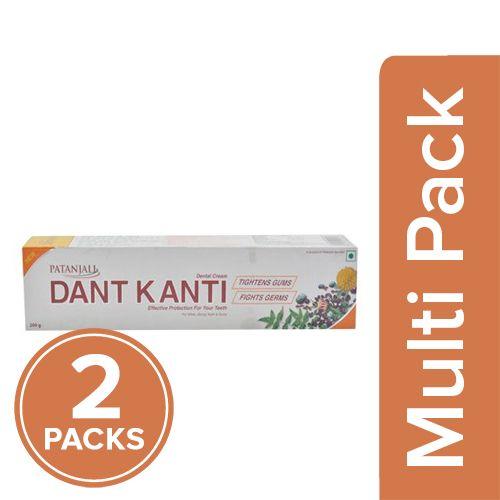 Patanjali Dant Kanti - Regular Dental Cream, 2x100 gm Multipack