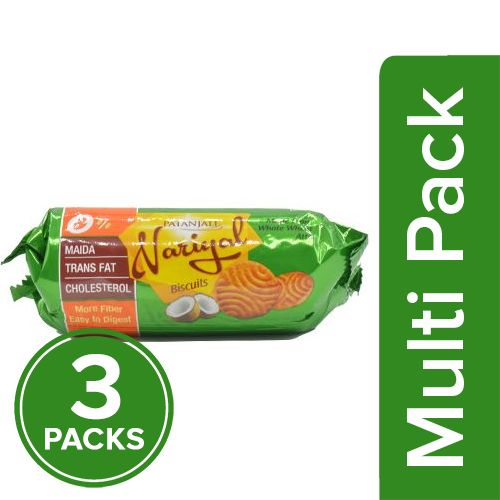 Patanjali Biscuit - Nariyal, 3x100 gm Multipack