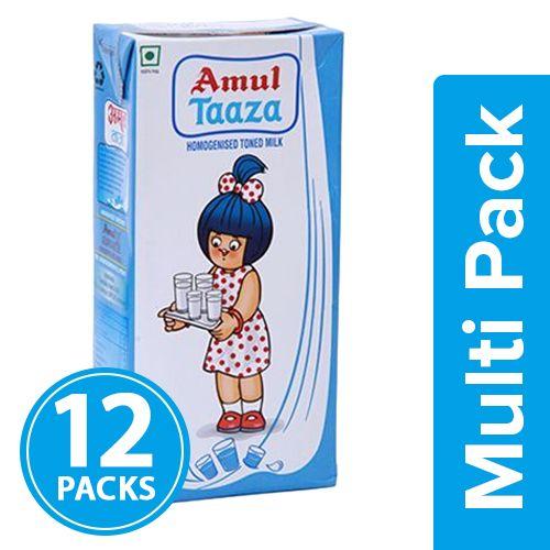 Amul Taaza Fresh Toned Milk, 500 ml