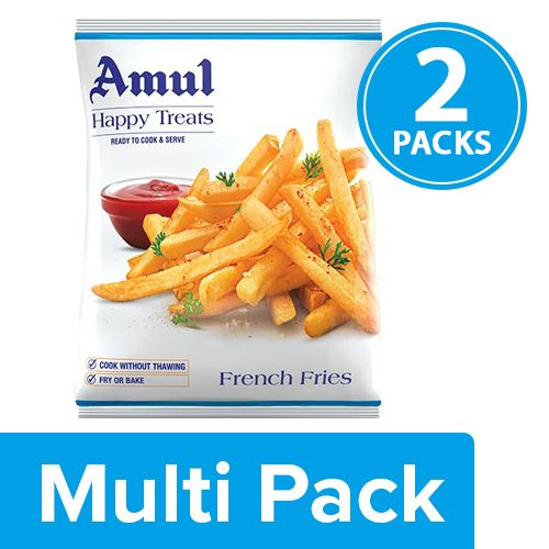 Amul Happy Treats French Fries, 2x425 gm Multipack