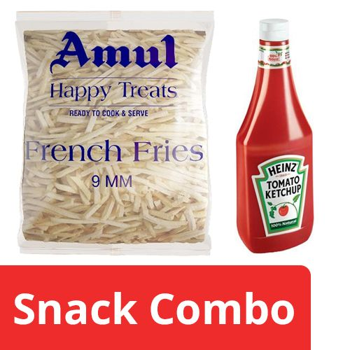 bb Combo Heinz Ketchup - Tomato 900 gm + Amul Happy Treats French Fries 2.5 kg, Combo 2 Items