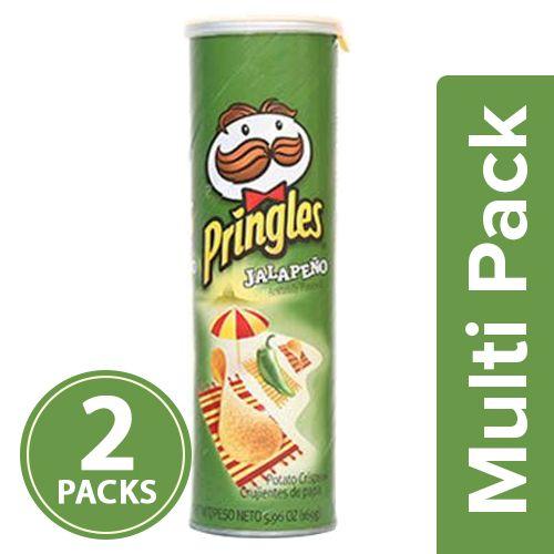 Pringles Potato Crisps - Jalapeno, 2x158 gm Multipack
