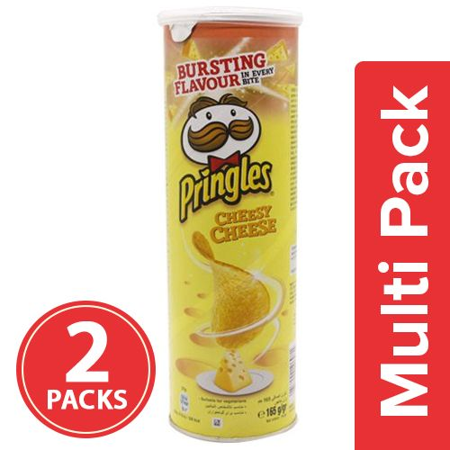 Pringles Potato Chips - Cheesy Cheese, 2x158 gm Multipack