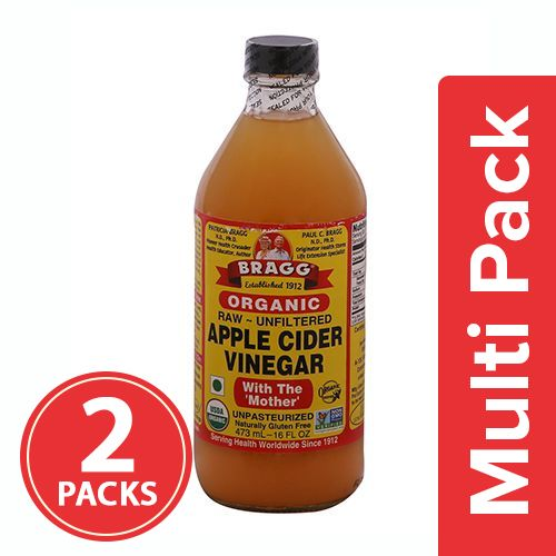Bragg Organic - Apple Cider Vinegar, 2x473 ml Multipack