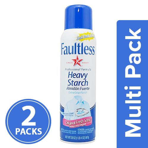 Faultless Heavy Starch - Original Fresh Scent, 2x567 gm Multipack