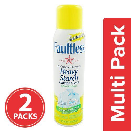 Faultless Heavy Starch - Lemon Fresh Scent, 2x567 gm Multipack