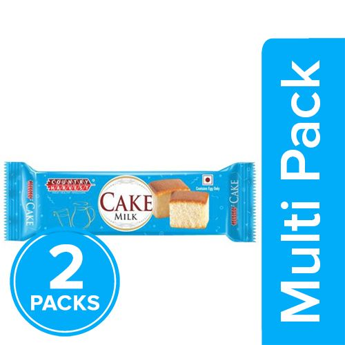Country Harvest Bar Cake - Milk, 2x50 g Multipack