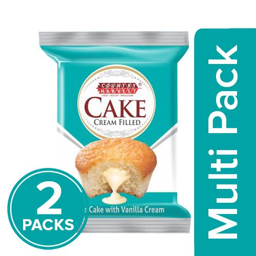 Country Harvest Cake - Vanilla, Cream Filled, 2x35 g Multipack