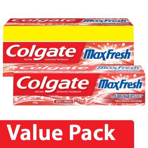 Colgate Toothpaste - Maxfresh Spicy Red, Gel 300G + Maxfresh Spicy Red, Gel 150G, Combo 2 Items