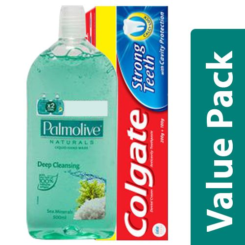 bb Combo Toothpaste Strong Teeth, Anti Cavity 300G + Hand Wash Natural, Sea Mineral 500ml, Combo 2 Items