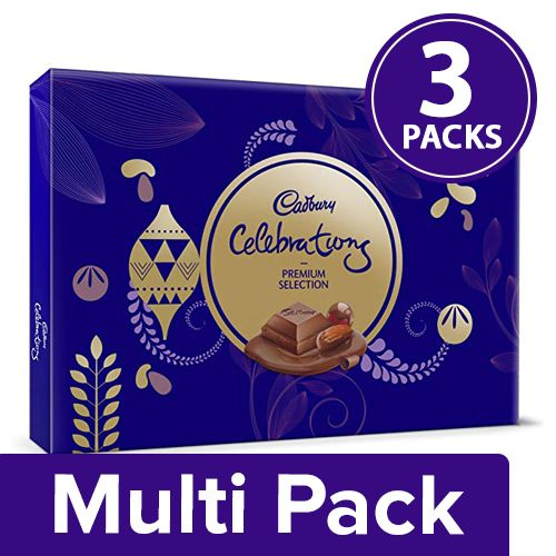 Cadbury Celebrations Chocolate - Assorted, Premium, Gift Pack, 3x286.3 gm Multipack
