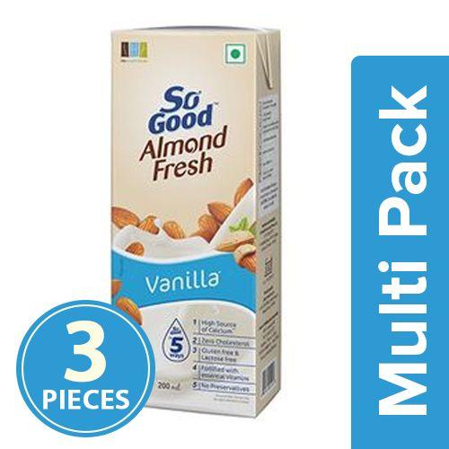 So Good Drink - Almond Fresh, Vanilla, 3x200 ml Multipack