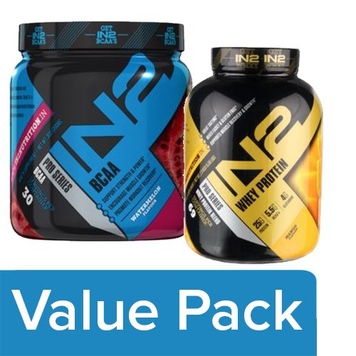 IN2 Whey Protein - Mango 2.3 kg + BCAA - Watermelon 300 gm, Combo 2 Items
