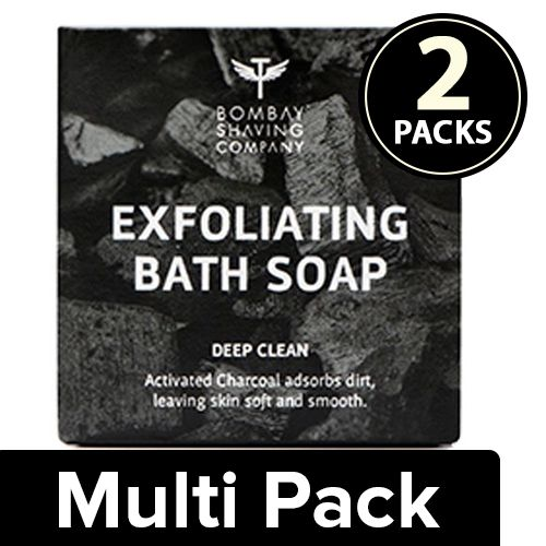 Bombay Shaving Company Soap - Deep Cleansing Bath, Charcoal with Coffee Exfoliates, 2x100 g Multipack