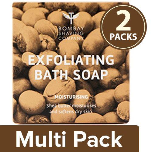 Bombay Shaving Company Soap - Moisturizing Bath, Shea butter with Coconut Husk, 2x100 g Multipack