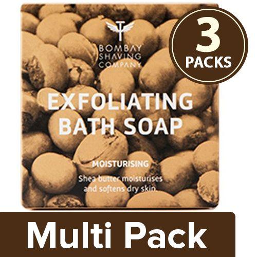 Bombay Shaving Company Soap - Moisturizing Bath, Shea butter with Coconut Husk, 3x100 g Multipack