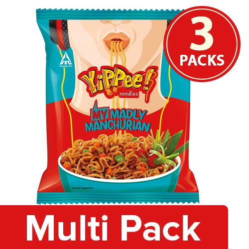 Sunfeast YiPPee! My Madly Manchurian Noodles, 3x60 g Multipack