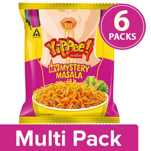 Sunfeast YiPPee! My Mystery Masala Noodles, 6x60 g Multipack