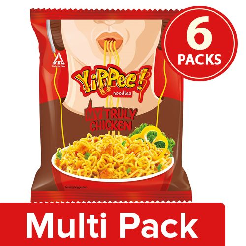 Sunfeast YiPPee! My Truly Chicken Noodles, 6x60 g Multipack
