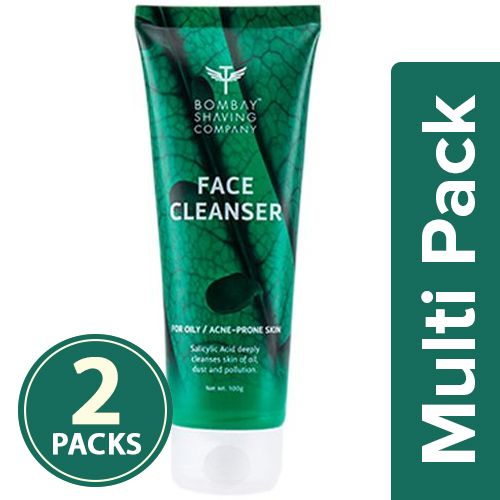 Bombay Shaving Company Face Wash - Oil Control, Face Cleanser, With Salicylic 0.3%, 2x100 g Multipack