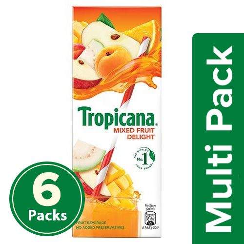 Tropicana Fruit Juice - Delight, Mixed Fruit, 6x200 ml Multipack