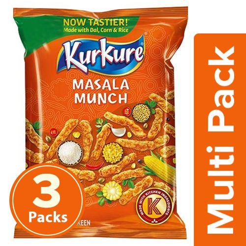 Kurkure Namkeen - Masala Munch, 3x95 g Multipack
