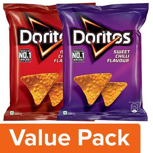Doritos Nacho Cheese 150G + Sweet Chilli 150G, Combo 2 Items